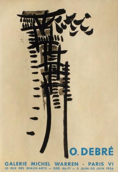 Expo Galerie Michel Warren-Olivier Debre-Collectable Print