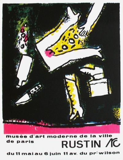 Expo Mus?e d'Art Moderne Paris-Jean Rustin-Collectable Print