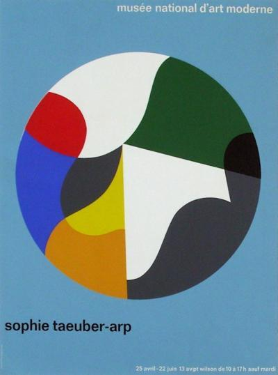 Expo Musée National d'Art Moderne-Sophie Ta?ber-Arp-Collectable Print