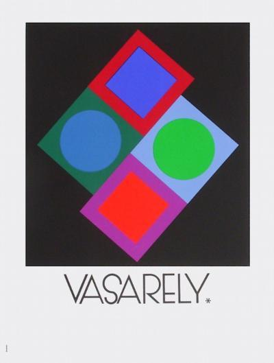 Expo Vasarely (affiche avant la lettre)-Victor Vasarely-Collectable Print