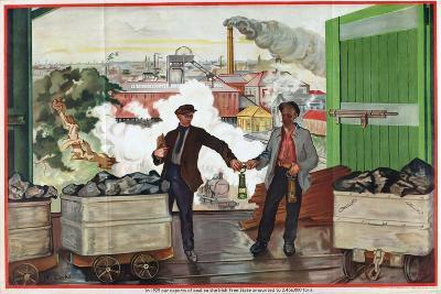 Exports of Coal to the Irish Free State, from the Series 'Irish Free State Imports'-Margaret Clarke-Giclee Print