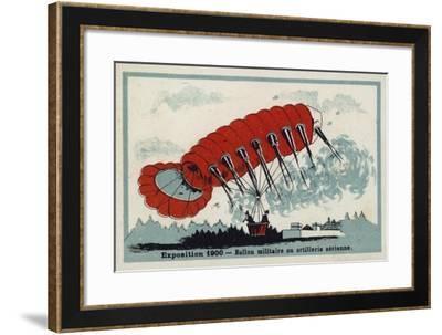 Exposition 1900 - Military Balloon or Aerial Artillery--Framed Giclee Print