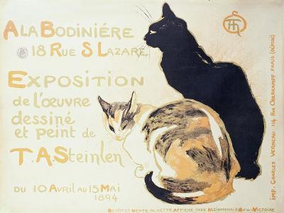 Exposition a La Bodiniere..., Poster Advertising an Exhibition of New Work, 1894-Th?ophile Alexandre Steinlen-Giclee Print