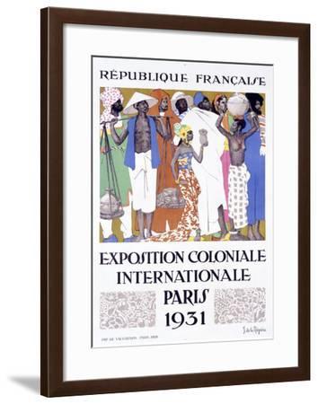Exposition Coloniale, Paris 1931-Jacques de la Neziere-Framed Giclee Print