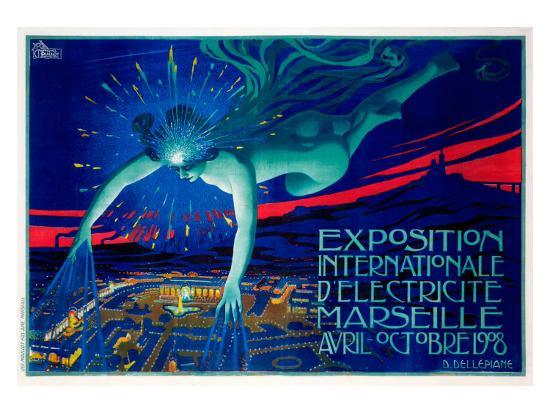 Exposition d'Electricite Marseille--Giclee Print