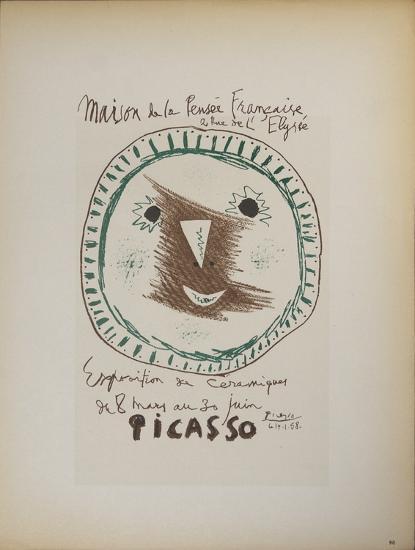 Exposition de Ceramiques-Pablo Picasso-Art Print
