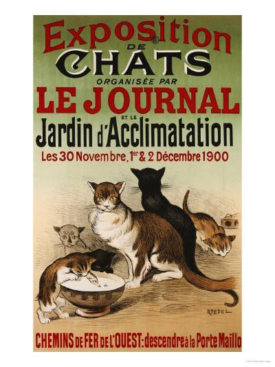 Exposition de Chats, 1900- Roedel-Giclee Print