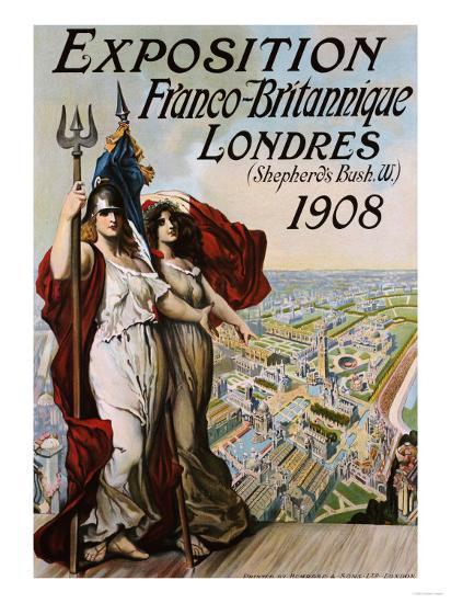 Exposition Franco-Britannique, Londres (Shepherd's Bush) 1908--Giclee Print