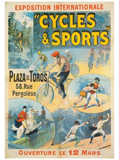 Exposition Internationale, Cycles & Sports-Lucien Lefevre-Giclee Print
