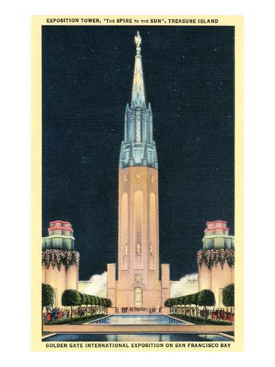 Exposition Tower, San Francisco World's Fair--Art Print