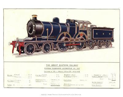 Express Passenger Locomotive, No.1853, Great Eastern Railway--Art Print