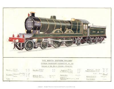 Express Passenger Locomotive, No.730, North Eastern Railway--Art Print
