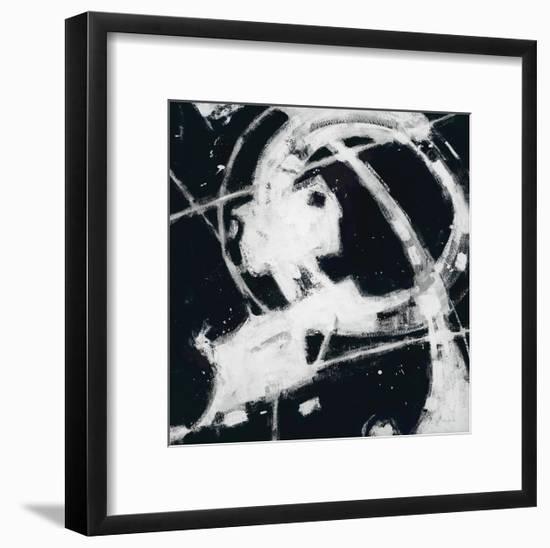 Expression Abstract III BW-Shirley Novak-Framed Art Print