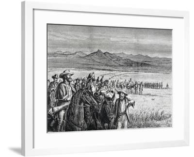 Expulsion of Miners from Black Hills, 1875--Framed Giclee Print