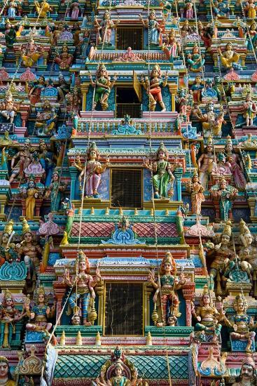Exquisitely Detailed Carvings on the Gopuram (Tower) of the Durga Devi Temple in Vidyaranyapura,…--Giclee Print