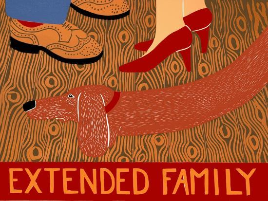 Extended Family-Red-Stephen Huneck-Giclee Print