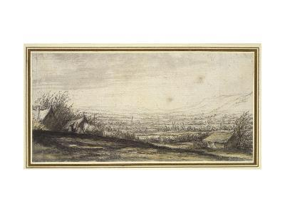 Extensive Landscape with Cottage and Cattle (Black Chalk, Grey and Yellow Wash)-Aelbert Cuyp-Giclee Print