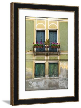 Exterior Detail of a House in Venice, Italy-David Noyes-Framed Photographic Print