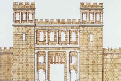 Exterior Facade of Roman North Gate 'Nordtor' in Cologne--Giclee Print