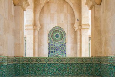 Exterior Mosaic Tile Work of the Hassan Ii Mosque-Erika Skogg-Photographic Print