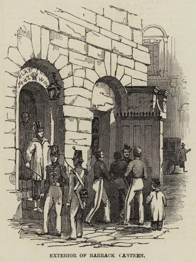 Exterior of a Barrack Canteen--Giclee Print