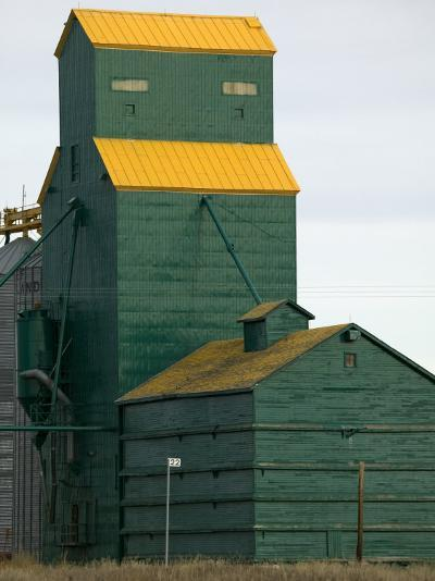 Exterior of a Grain Elevator-Pete Ryan-Photographic Print