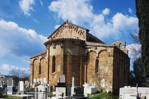 Exterior of Apse of Church of St Paul, 12th-13th Century, Romanesque Style, Milis, Sardinia, Italy