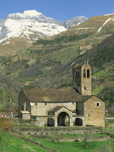 Exterior of Church, Linas De Broto, Pyrenees, Aragon, Spain-Lawrence Graham-Photographic Print