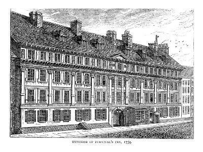 Exterior of Furnival's Inn, 1754--Giclee Print