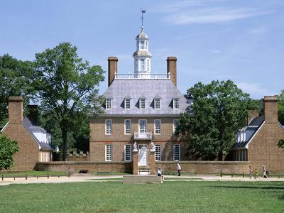 Exterior of Governor's Palace, Colonial Architecture, Williamsburg, Virginia, USA-Pearl Bucknall-Photographic Print