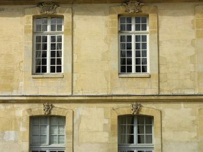 Exterior of Historical Building and Windows--Photographic Print