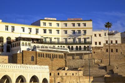Exterior of Hotel Continental, Tangier, Morocco, North Africa, Africa-Neil Farrin-Photographic Print