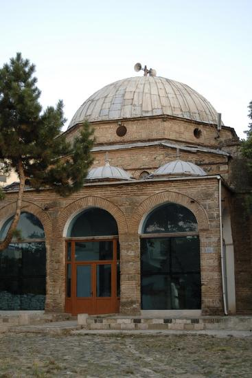 Exterior of Iljaz Mirahori Mosque, Korce, Albania--Giclee Print
