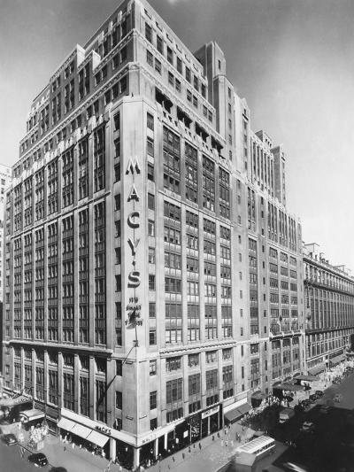 Exterior of Macy's Department Store--Photographic Print