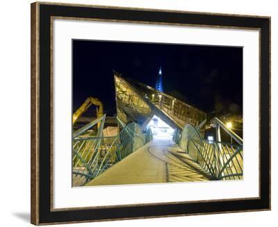 Exterior of Modern Public Spa, Escaldes-Engordany Parish, Andorra-Jim Zuckerman-Framed Photographic Print