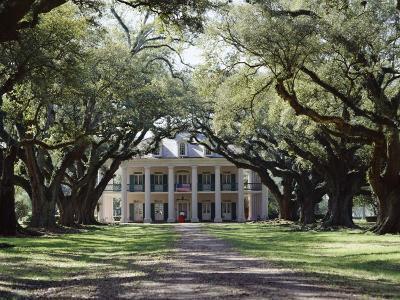 Exterior of Plantation Home, Oak Alley, New Orleans, Louisiana, USA-Adina Tovy-Photographic Print