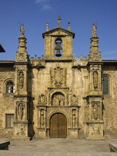 Exterior of Plateresque Facade of the University at Onati, Pais Vasco, Basque Area, Spain, Europe-Michael Busselle-Photographic Print