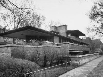 Exterior of Robie House Designed by Frank Lloyd Wright--Photographic Print