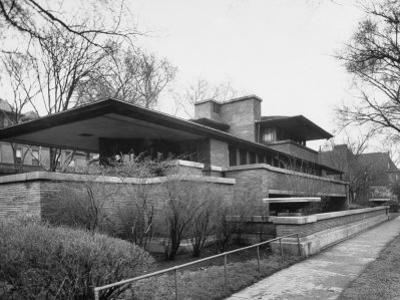 Exterior of Robie House Designed by Frank Lloyd Wright