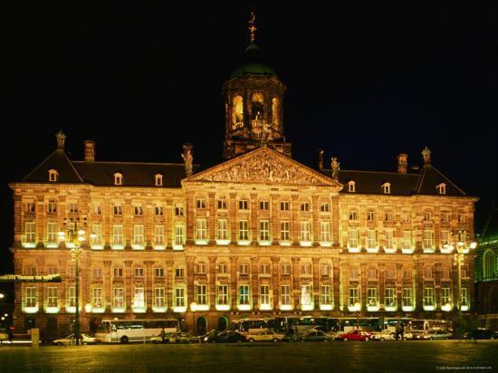 Exterior of Royal Palace, Amsterdam, Netherlands-John Elk III-Photographic Print