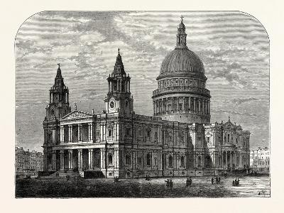 Exterior of St. Paul's Cathedral from the South-West 1800 London--Giclee Print