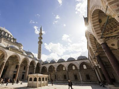 Exterior of Suleymaniye Mosque, Istanbul, Turkey-Ben Pipe-Photographic Print