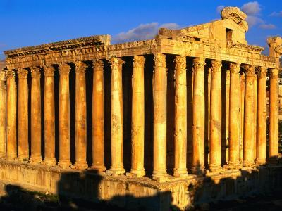Exterior of Temple of Bacchus, Baalbek, Lebanon-Bethune Carmichael-Photographic Print
