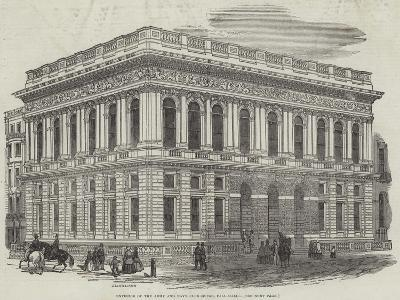 Exterior of the Army and Navy Club-House, Pall-Mall-J^l^ Williams-Giclee Print