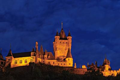 Exterior of the Imperial Castle of Cochem at Night-Babak Tafreshi-Photographic Print