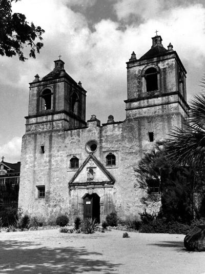 Exterior of the Mission Conception Near San Antonio, also known as the Alamo-Carl Mydans-Photographic Print