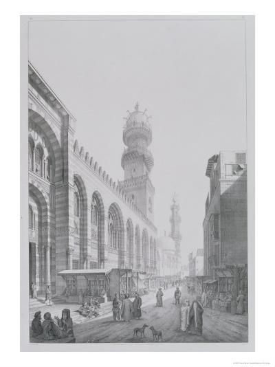 "Exterior of the Mosque of Qalaoun, Plate 20 from ""Monuments and Buildings of Cairo""-Pascal Xavier Coste-Giclee Print"