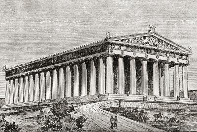 Exterior of the Parthenon in Athens, Greece--Giclee Print