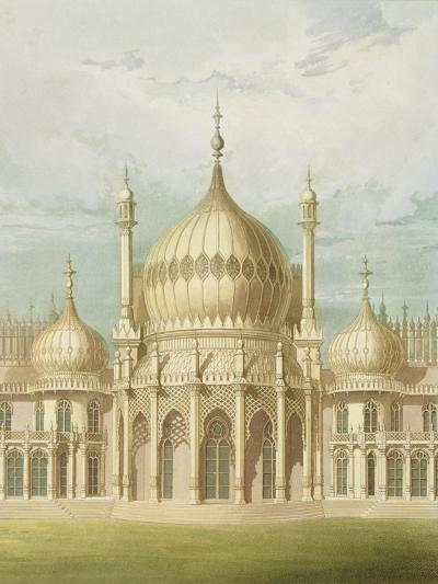 Exterior of the Saloon from Views of the Royal Pavilion, Brighton by John Nash, 1826-John Nash-Giclee Print