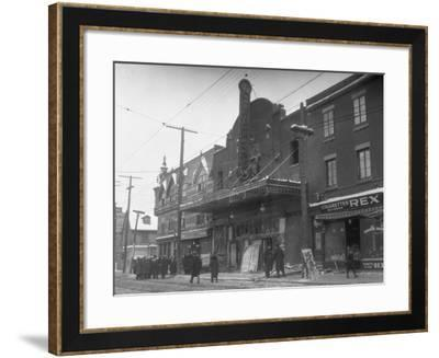 Exterior of Theater after Fire--Framed Photographic Print